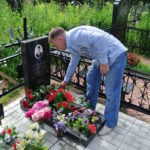 Акция патроната над захоронением майора Александра Николаевича Суховей 20 июня 2012
