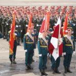 Смотр Парадного расчёта 2 полка ОДОН Балашиха 6 мая 2013