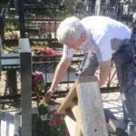 Обустройство захоронения майора Суховея. Николо-Архангельское кладбище 9 мая 2013