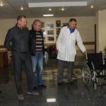 Передача инвалидных колясок. Главный военный клинический госпиталь Внутренних войск МВД России  23 июля 2013