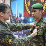 Награждение медалью «За службу в разведке» 242 ОРБ.  Зеленокумск 31 декабря 2013