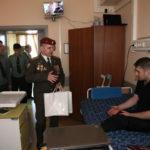 Посещение военнослужащих с боевыми ранениями. Главный военный клинический госпиталь Внутренних войск МВД России 27 марта 2014