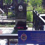 Обустройство захоронения майора Суховея на Николо-Архангельском кладбище 29 июня 2014
